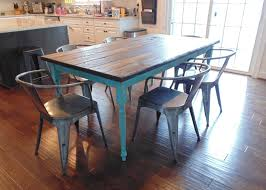 Country Kitchen Dining Table Watch More Like Turquoise Dining Table