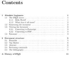 Tables of contents   Getting to grips with LaTeX   Andrew Roberts Andrew Roberts default table of contents as typeset by LaTeX