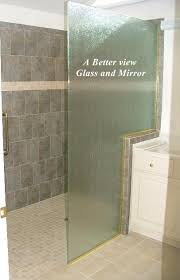 rain glass shower panel with notch for knee wall installed in newport news virginia