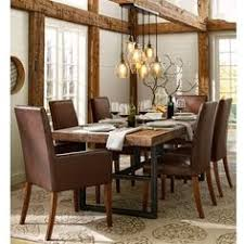 pottery barn griffin reclaimed wood dining table grayson chair 4 125