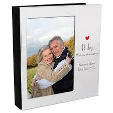 Personalised Ruby Wedding Anniversary Photo Album Personalised