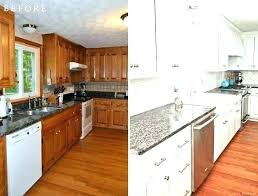 Painting Oak Kitchen Cabinets White Best Photos Of Kitchen Cabinets Before And After Painting Painting
