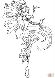 Winx Sirenix Coloring Pages House Musa Page Free Printable In