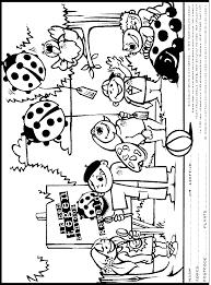 Kleurplaat Met Het Lieveheersbeestje In Het Park Kleurplatennl