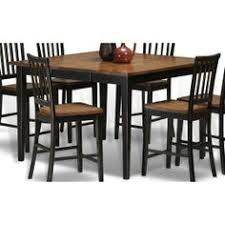 clearance black and java brown gathering dining room table arlington