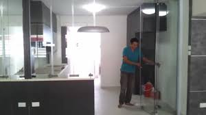 Open Kitchen Partition Frameless Door Systemclose Demo Video Singapore Serangoon Hdb 4