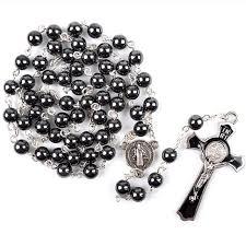 7mm catholic long pendant black