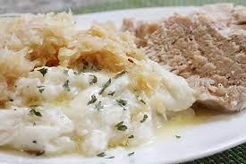 delicios pork roast with sauer