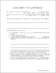 Printable Blank Resume Forms Enchanting Printable Sample Partnership Agreement Template Form Real Estate