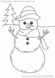 Small Picture Winter themed coloring page