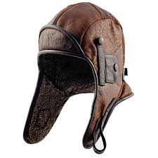 leather motorcycle hat
