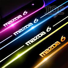 <b>Накладки</b> на <b>пороги</b> с подсветкой на Mazda 6