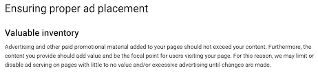 google removes adsense ads per page limit focuses on content to  adsense valuable inventory policy