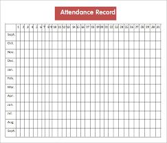 Teacher Grade Sheet Template Free Attendance Record Template