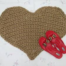 heart shaped jute throw rug valentine rug primitive decor indoor outdoor rug