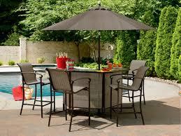 Lovable Outdoor Patio Bar Table with Portable Patio Bar
