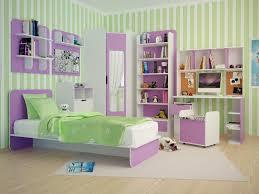 Purple And Cream Bedroom Bedroom Green Blanket Pillow Purple Bed Bookshelf Mirror Armoire