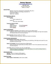 Resume Template Sample Format Word Document How To Write A Cover