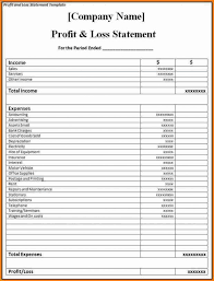 small business profit and loss statement template profit loss statement template original sample small business