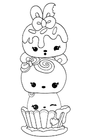 Cute Happy Food Num Noms Coloring Pages Get Coloring Pages