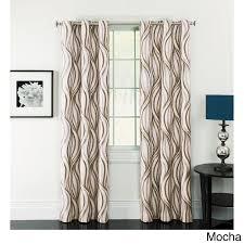 Celestina Wave Jacquard Grommet Blackout Curtain Panel Pair - Free Shipping  Today - Overstock.com - 15811414