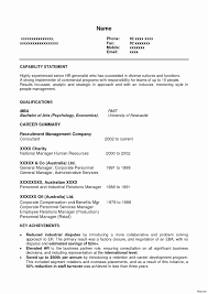 Resume Template For Human Resources Fresh Human Resources Resume