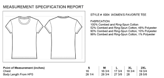 Bella Ladies Size Chart 12 Conclusive Bella And Canvas Size Chart