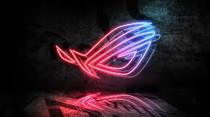 Download wallpaper: Asus ROG neon logo ...