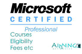Microsoft Certified Courses Details List Eligibility Fees