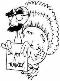 Funny Turkey Thanksgiving Coloring Pages Jpg