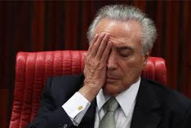 Resultado de imagem para TEMER DE CABEÇA BAIXA