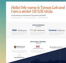 FREE Visual Resume CV template