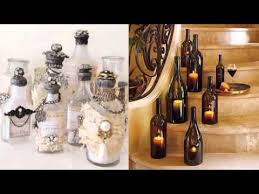 Decorative Colored Glass Bottles Diy Bottle Of Glass Art Home Decor Ideas Beautiful Painted Pic 68