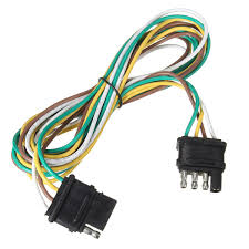 online buy whole pin trailer connector from pin 4 way pins trailer end light wiring harness bonded 4 pole flat connector extension plug wire