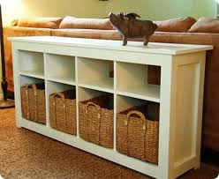 sofa table with storage. Sofa Table With Shelves New Storage Baskets For 9