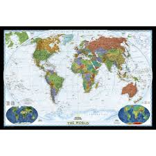 national geographic world map wall mural decorator world map standard size maps national and geographic