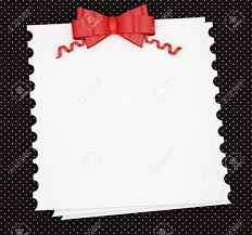Black And White Invitation Paper Vintage Wedding Holiday Paper Background With Red Bow White