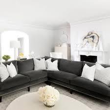 gray velvet sectional. Interesting Sectional Gray Velvet Sectional Transitional Living Room MAS Design For Sectional