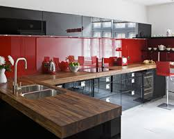 Red Lacquer Kitchen Cabinets Black Kitchen Black Thomasville Cabinets With White Countertop