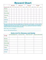 Reward Chart Template Toddler Reward Chart Printable Toddler Printable Coloring Pages