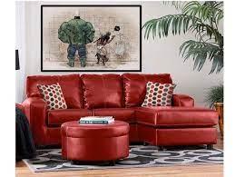 leather sofa living red sofa living
