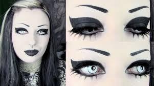 goth eyebrows goth makeup tutorial photoshoot makeup goth hair goth beauty