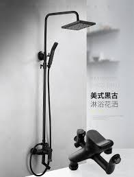Us 1943 33 Offschwarz Matt Anzug Platz Dusche Badewanne Wasserhahn 8 Zoll Regendusche System Wand Bad Accessoires In Duschsystem Aus