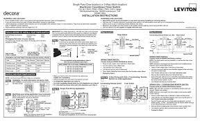 Leviton Device Color Chart Leviton Ltb12 Switch User Manual Manualzz Com