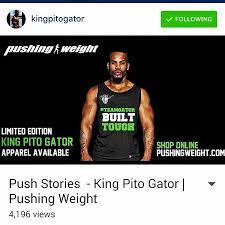 i am pushingweight pushing weight kingpitogator teamgatorfitness usa zaaaa