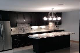 Kitchen Design, Light Cream Mosaic Granite Kitchen Countertops Ideas Dark  Polished Wooden Wall Mounted Combine ...