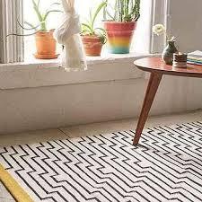 4040 locust patan line yellow white and black woven rug