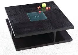 black square tables square black wood coffee table with glass center floating square table lamp in