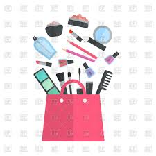 make up artist objects in cosmetic bag vector image vector artwork of beauty to zoom