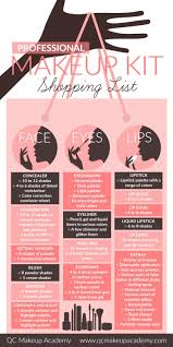 here s a handy ping list to get you started professional makeup artistry kit infographic